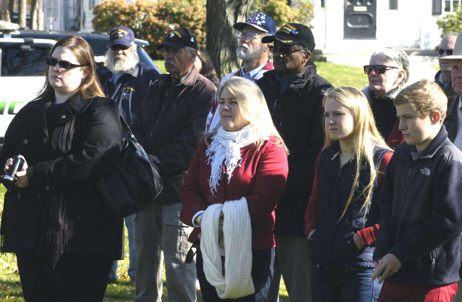 New Milford's Veterans Day ceremony on the south end of the Village Green in New Milford. Nov. 11, 2013 Photo: Norm Cummings / The News-Times