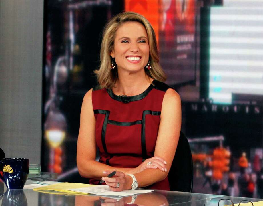 "This Sept. 13, 2013 photo released by ABC shows co-host Amy Robach during a broadcast of ""Good Morning America,"" in New York.  A month after undergoing a mammogram on ""Good Morning America,"" ABC's Amy Robach said Monday, Nov. 11, she has breast cancer and will have a double mastectomy and reconstructive surgery this week. (AP Photo/ABC, Heidi Gutman)  ORG XMIT: NYET175 Photo: Heidi Gutman / American Broadcasting Companies, Inc."