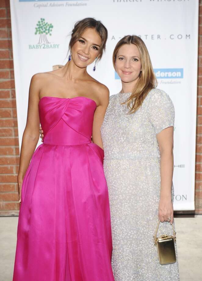 Baby2Baby board member Jessica Alba (L) and honoree Drew Barrymore attend the second annual Baby2Baby Gala, honoring Drew Barrymore, at Book Bindery on November 9, 2013 in Culver City, California. Photo: Stefanie Keenan, Getty Images For Baby2Baby