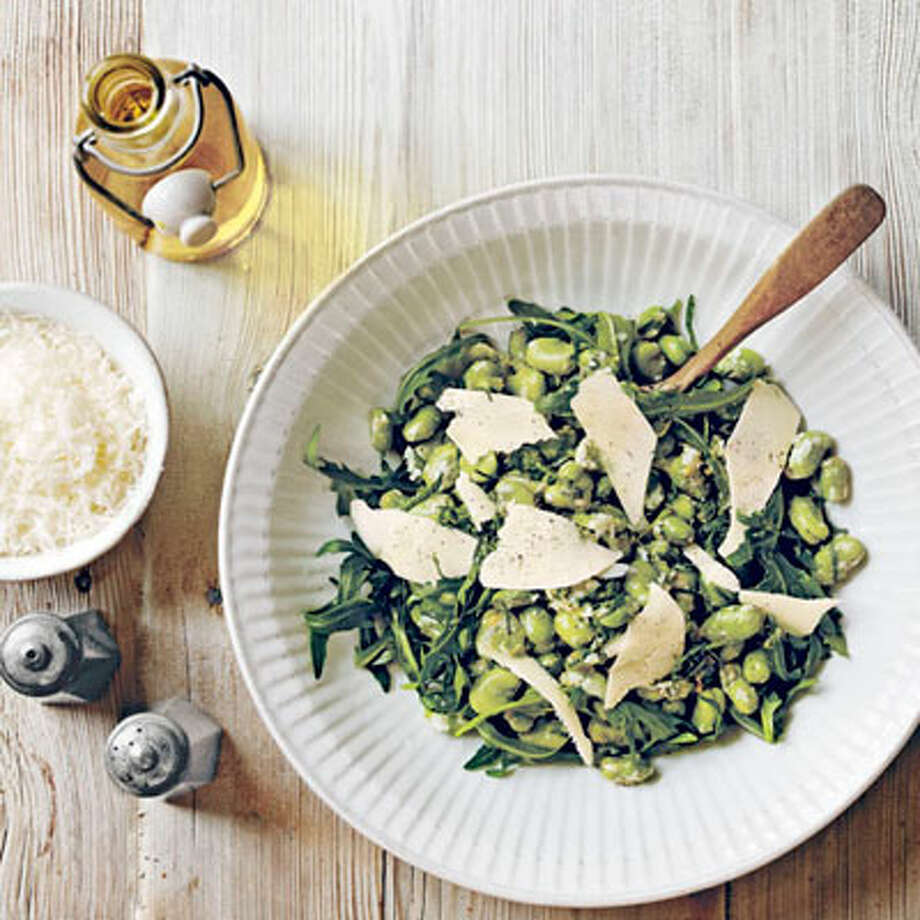 Fava Bean Salad with Pecorino Photo: Anders Schonnemann / Country Living