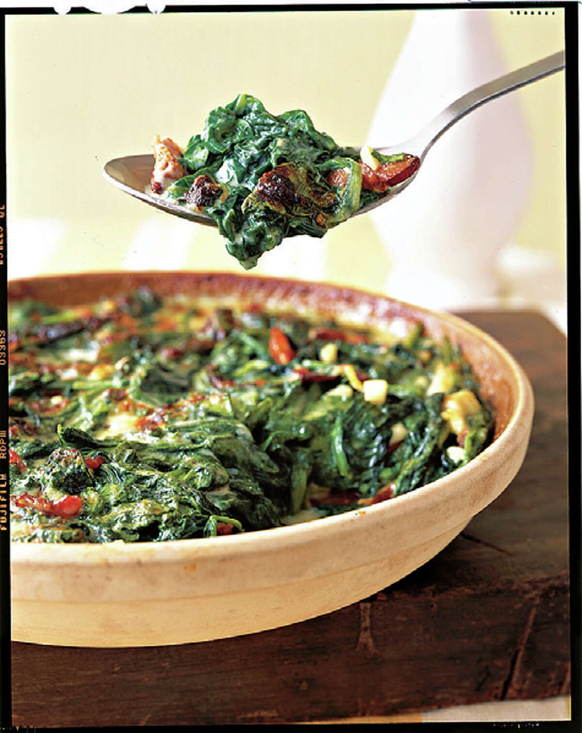 Country Living recipe for Creamy Spinach Casserole.