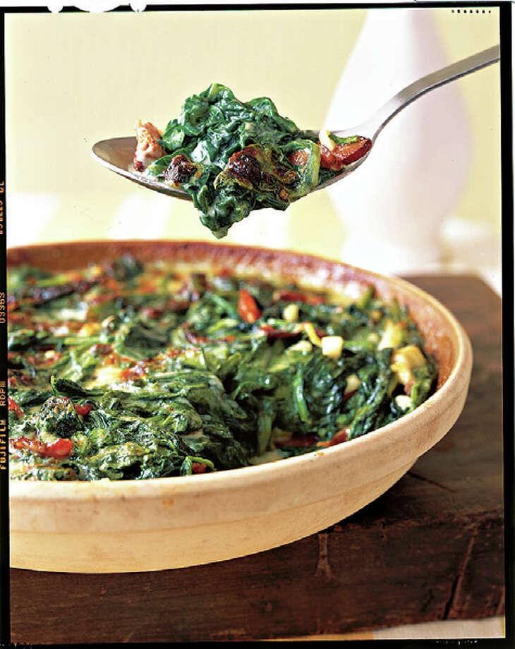 Country Living recipe for Creamy Spinach Casserole. Photo: Ann Stratton