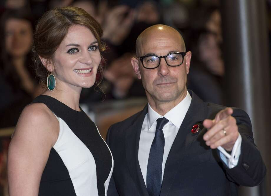 "LONDON, ENGLAND - NOVEMBER 11:  Felicity Blunt and Stanley Tucci attend the UK Premiere of ""The Hunger Games: Catching Fire"" at Odeon Leicester Square on November 11, 2013 in London, England.  (Photo by Mark Cuthbert/UK Press via Getty Images) Photo: Mark Cuthbert, UK Press Via Getty Images"