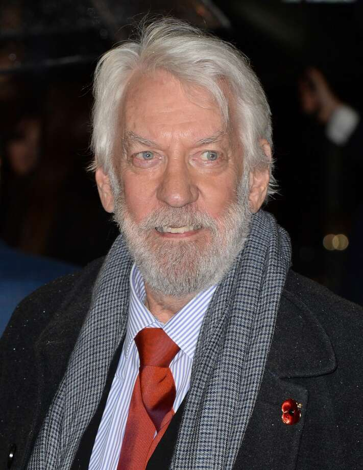 "Donald Sutherland attends the UK Premiere of ""The Hunger Games: Catching Fire"" at Odeon Leicester Square on November 11, 2013 in London, England. Photo: Zak Hussein, Getty Images"