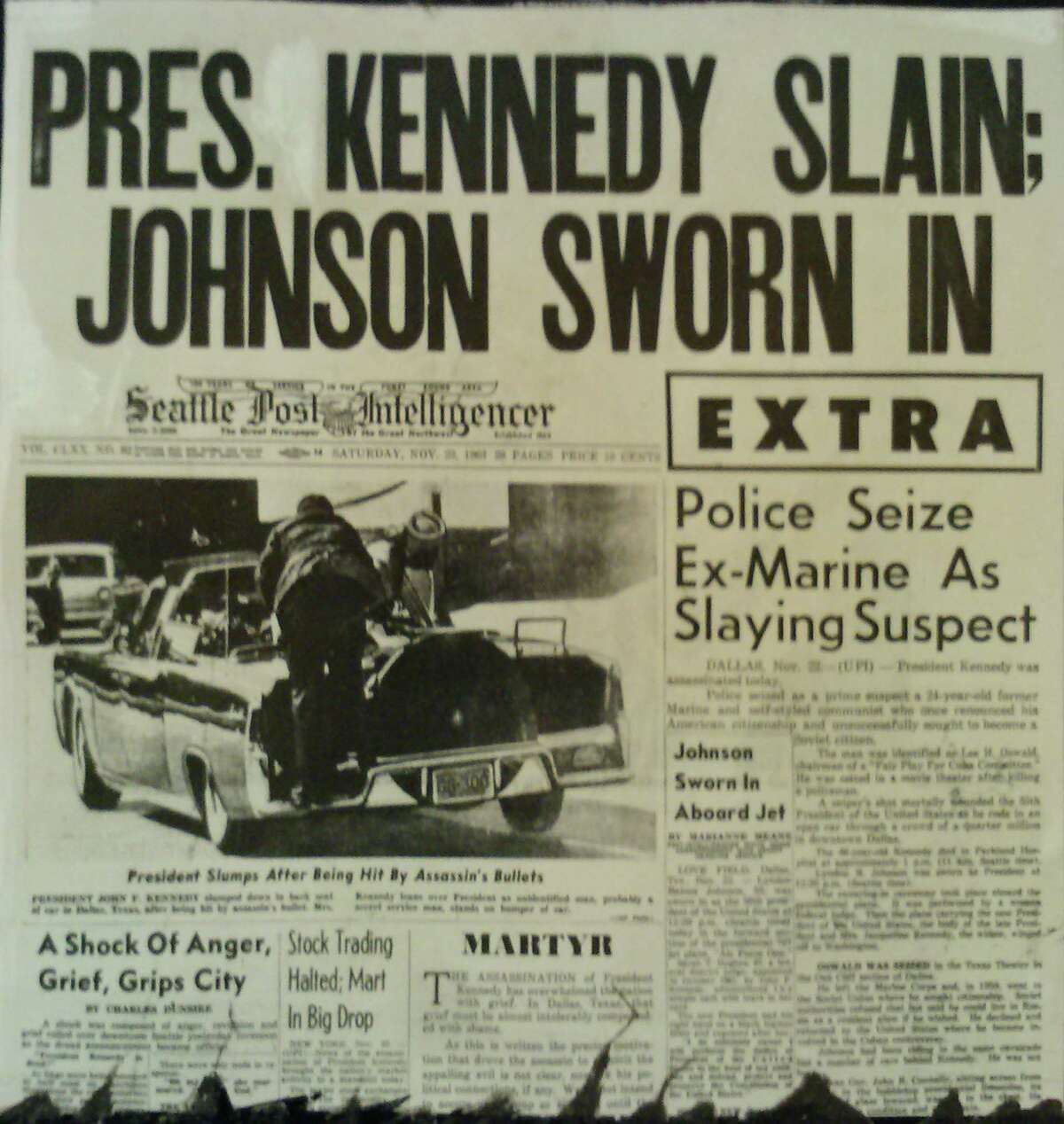 This extra edition of the P-I is dated Nov. 22, 1963, the day of Kennedy's assassination.