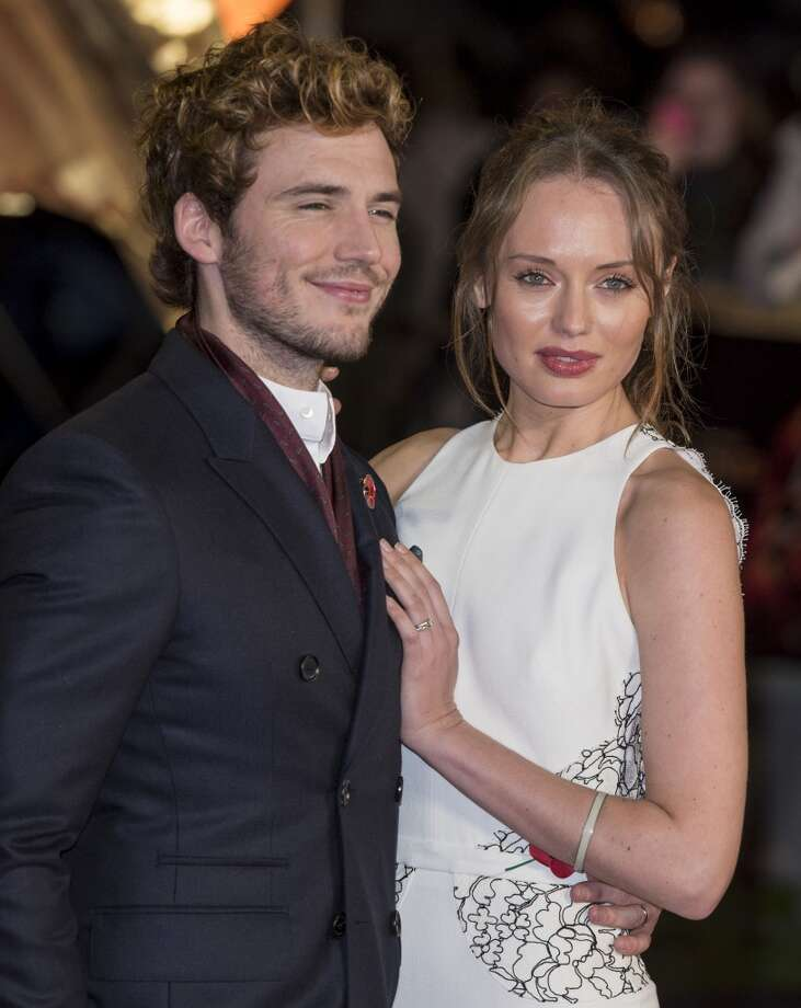 "LONDON, ENGLAND - NOVEMBER 11:  Laura Haddock and Sam Claflin attend the UK Premiere of ""The Hunger Games: Catching Fire"" at Odeon Leicester Square on November 11, 2013 in London, England.  (Photo by Mark Cuthbert/UK Press via Getty Images) Photo: Mark Cuthbert, UK Press Via Getty Images"