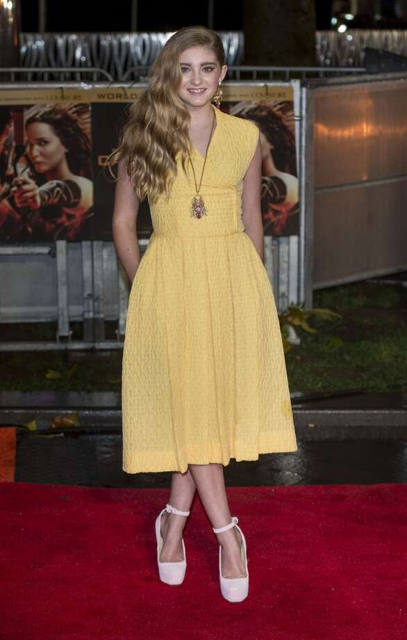 "Willow Shields attends the UK Premiere of ""The Hunger Games: Catching Fire"" at Odeon Leicester Square on November 11, 2013 in London, England. Photo: Mark Cuthbert, UK Press Via Getty Images"