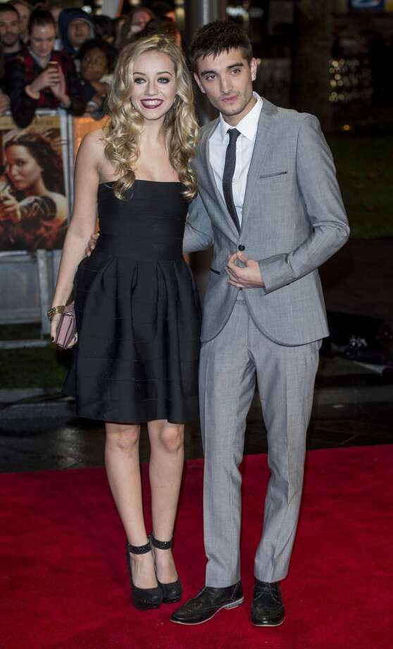 "Tom Parker and Kelsey Hardwick attend the UK Premiere of ""The Hunger Games: Catching Fire"" at Odeon Leicester Square on November 11, 2013 in London, England. Photo: Mark Cuthbert, UK Press Via Getty Images"