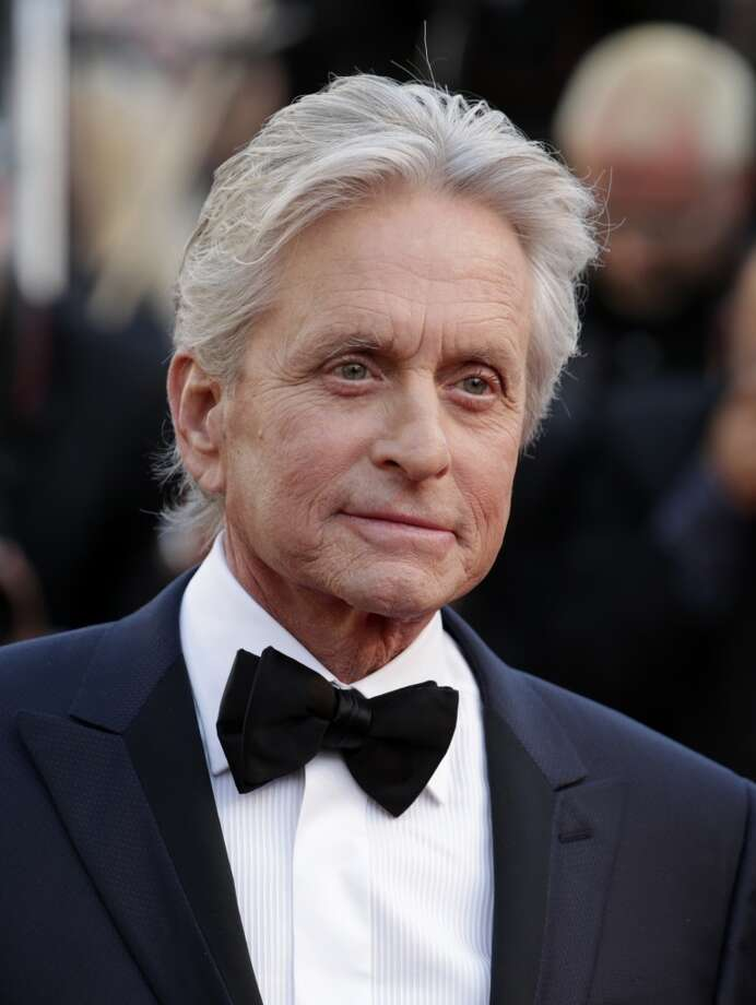 Michael Douglas -- -- rather high, distinctive. Photo: David Azia, Associated Press