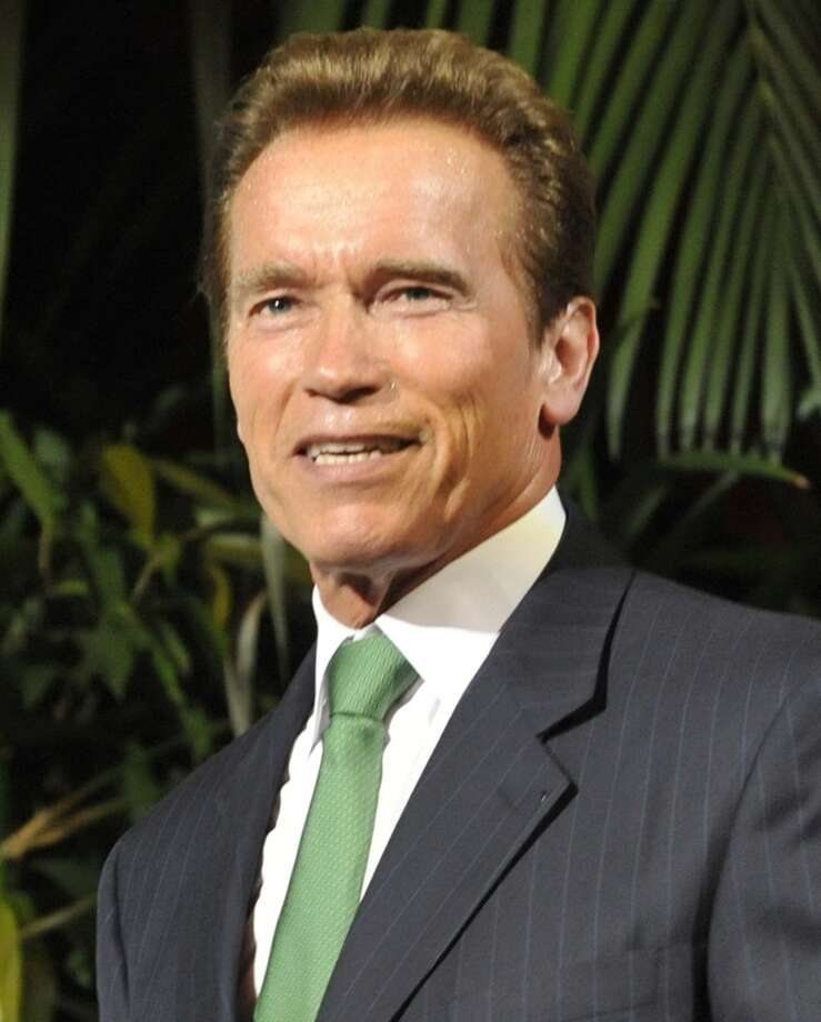 Arnold Schwarzenegger -- recognized the world over. Photo: Bela Szandelszky, AP