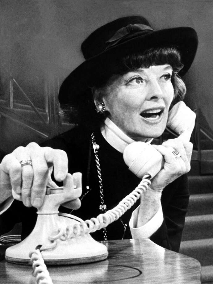 Katharine Hepburn -- one of the great voices of the 20th century, not because the voice was pretty, but because it so expressed a personality. Photo: Anonymous, ASSOCIATED PRESS