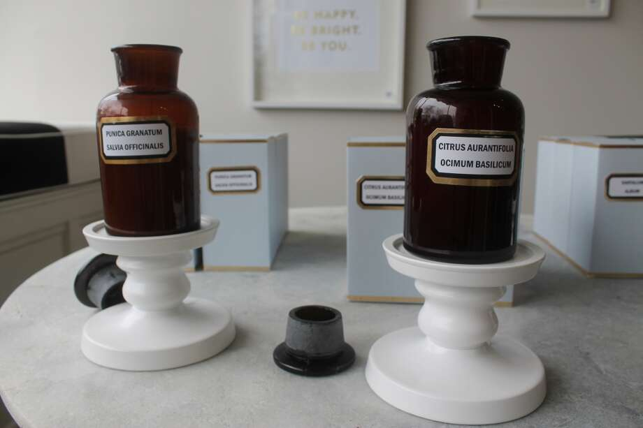 Mind your beeswax...candles.  These, in antique apothecary jars come in botanical scents.  Let the healing begin!