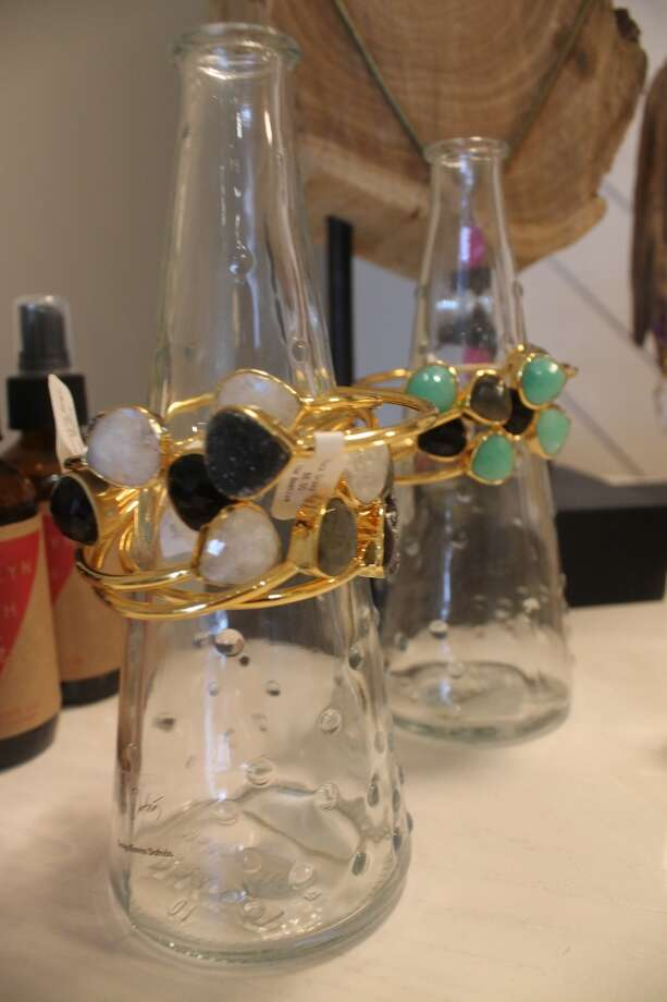 Slip on an armful of stackable bracelets