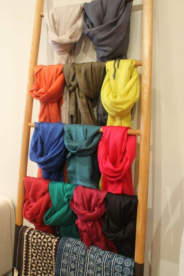 Cozy scarves in a Pantone-wheel worthy selection of colors.