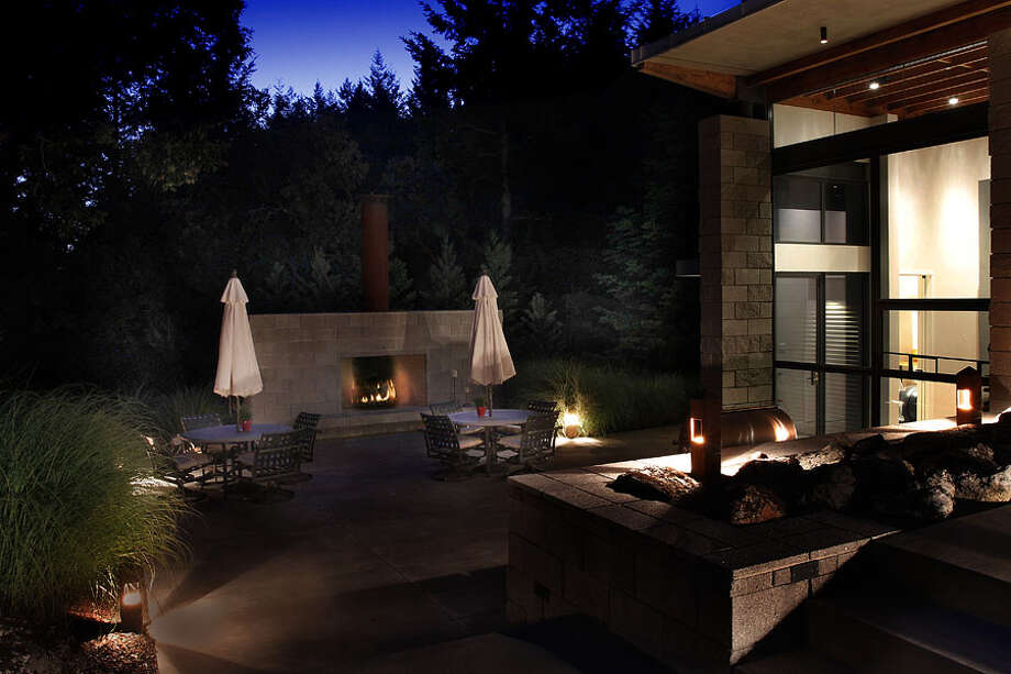 Outdoors by night. Photos via Sotheby's/Ginger Martin