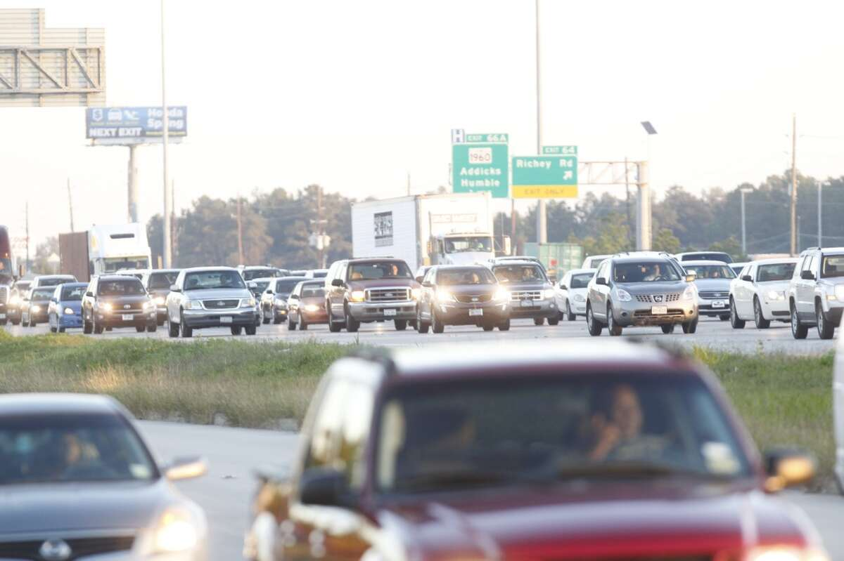 A pedestrian died after he was hit by a vehicle about 5:30 a.m. Tuesday on the inbound Interstate 45 HOV lane near Airtex.