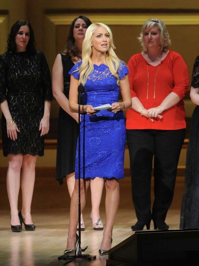 Sandy Hook Elementary School teacher Kaitlin Roig-Debellis accepts The Protector Award on stage at  the 2013 Glamour Women of the Year Awards on on Monday, Nov. 11, 2013 in New York. (Photo by Brad Barket/Invision /AP Images) Photo: Brad Barket, Brad Barket/Invision/AP / Invision