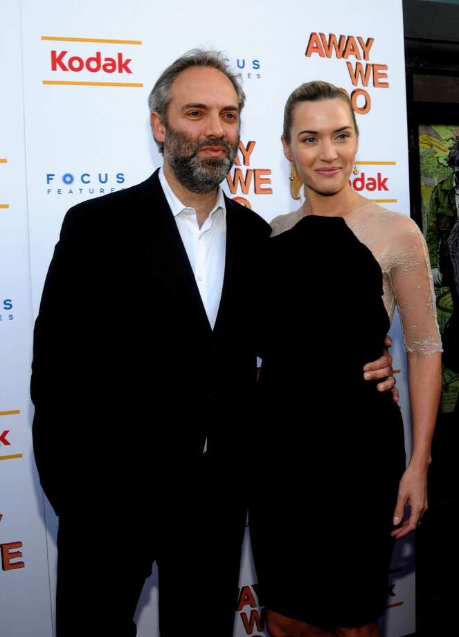 "James Bond director Sam Mendes and Academy Award winner Kate Winslet ( at the ""Away We Go""  screening in 2009) were married from 2003-2010. Although Winslet admitted the breakup was initially difficult she and Mendes have worked through their differences to become friends. Both have only the best interest of their son, Joe at heart. Winslet told Harper's Bazaar in 2011 'There's no way that I'm going to allow my children to be f***ed up because my marriages haven't worked out,' Photo: George Napolitano, FilmMagic"