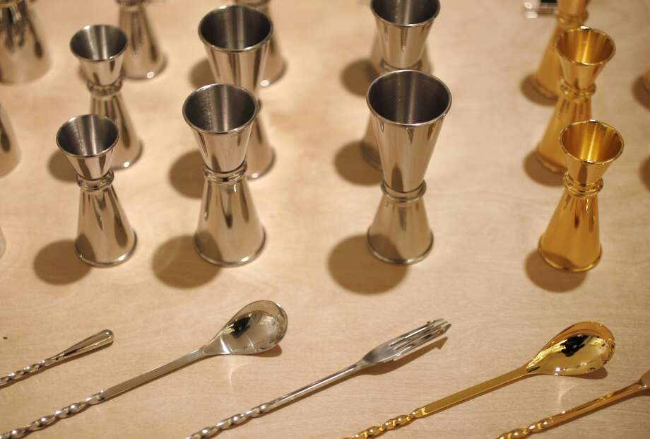 Jiggers are pictured with stirring sticks . Photo: Leah Millis, The Chronicle