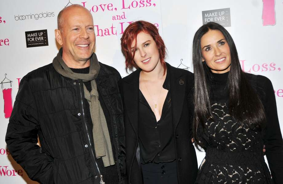 Bruce Willis and Demi Moore (pictured with daughter Rumer Willis) were the King and Queen of Hollywood in the 1990's and their split was a one of the more shocking ones to come out of tinseltown in 2000. The pair never publicly feuded or gave the press even a hint of animosity: they seemed to immediately transition into friends and coparents of their their daughters. Willis and Moore were so friendly he even became bussies with Moore's next exhusband, Ashton Kutcher. Photo: Bruce Glikas, FilmMagic