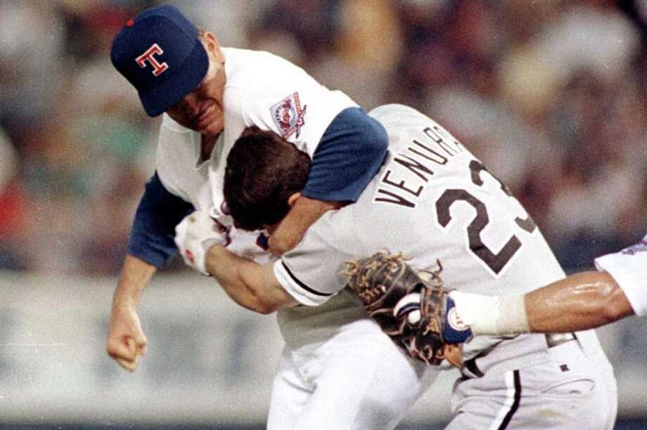 ...but we'll always remember him for turning Robin Ventura's face inside-out. Photo: LINDA KAYE, AP / AP