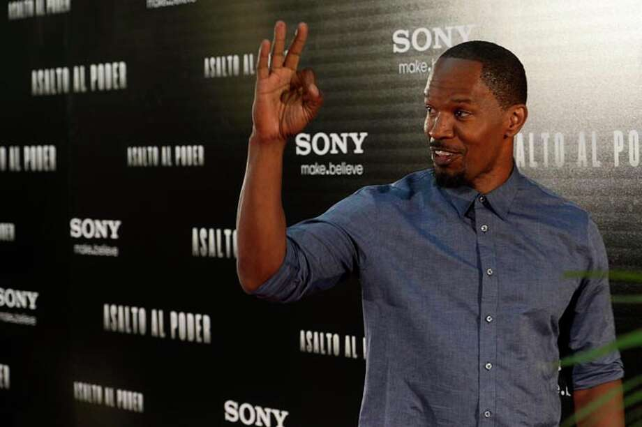 Jamie Foxx is mostly cast in action roles these days ... Photo: PIERRE-PHILIPPE MARCOU, AFP/Getty Images / 2013 AFP