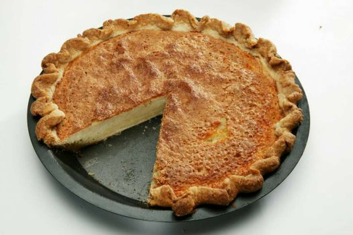Alabama Buttermilk, eggs and sugar with a bit of flour combine for buttermilk pie. Read more.
