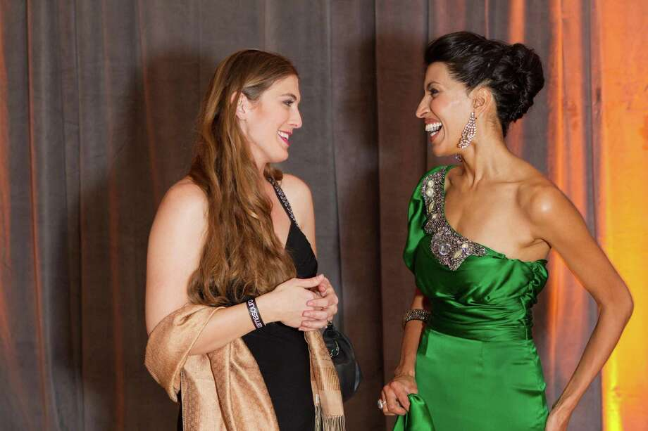 Corrie Conrad and Leila Janah at the 5th Annual Samasource Give Work Gala at The Regency Ballroom in S.F. on November 1, 2013. Photo: Drew Altizer, Drew Altizer Photography / DREW ALTIZER PHOTOGRAPHY