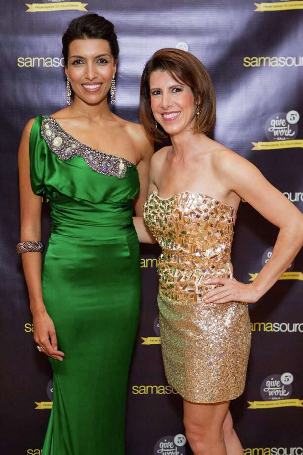 Leila Janah and Kym McNicholas at the 5th Annual Samasource Give Work Gala at The Regency Ballroom in S.F. on November 1, 2013. Photo: Drew Altizer, Drew Altizer Photography / DREW ALTIZER PHOTOGRAPHY