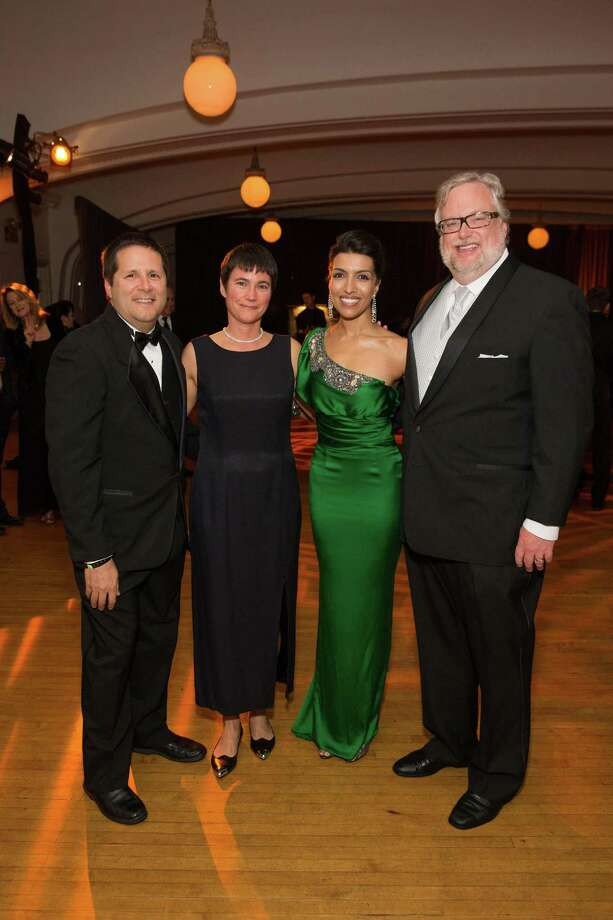 Ricardo Gomez, Mary Forster, Leila Janah and Steve Heck at the 5th Annual Samasource Give Work Gala at The Regency Ballroom in S.F. on November 1, 2013. Photo: Drew Altizer, Drew Altizer Photography / ©Drew Altizer