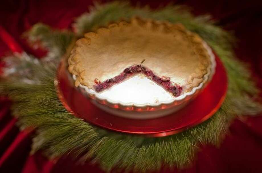 Cranberry PieThe raisins help cut the bitterness of the cranberries but leave the tart. Delicious!Read the recipe Photo: Chronicle File Photo