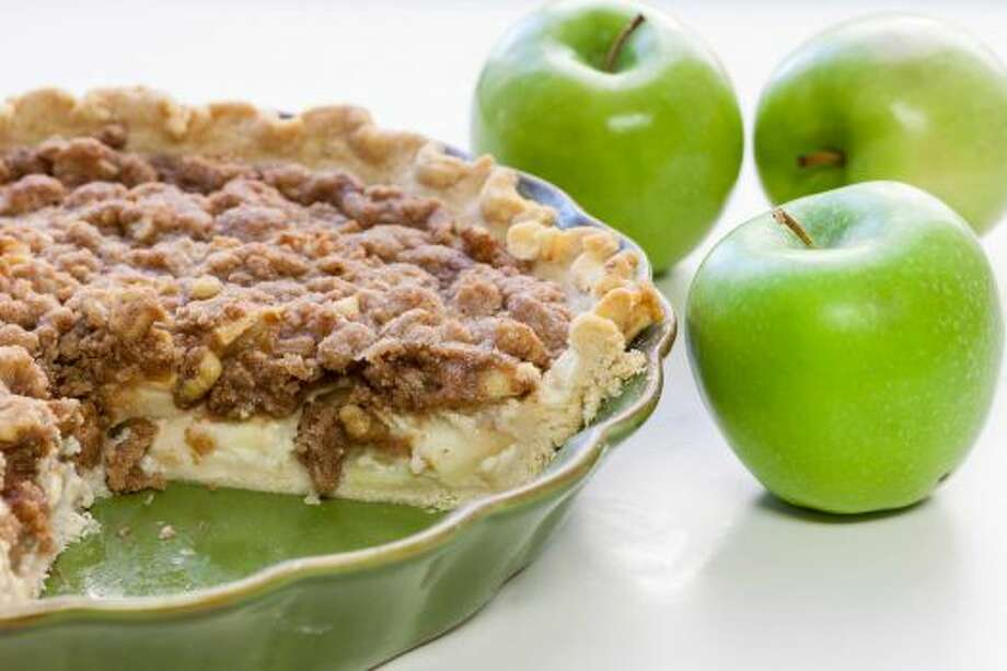 Sour Cream Apple PieI love the cruncy, butter topping mixed with the tangy, sweet apples inside.Read the recipe Photo: Michael Paulsen / Houston Chronicle