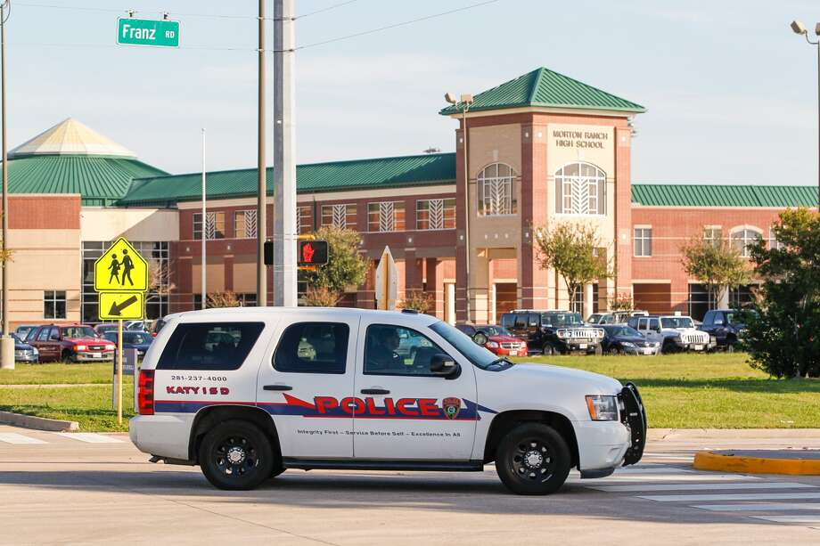 Students attend school at Morton Ranch High School Monday morning. Two Morton Ranch students were killed in a shooting that broke out at a house party Saturday night. Photo: Johnny Hanson, Houston Chronicle