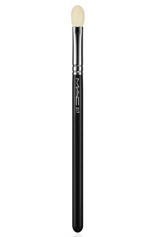 The No. 217 brush was used for applying eyeshadow. Photo: MAC