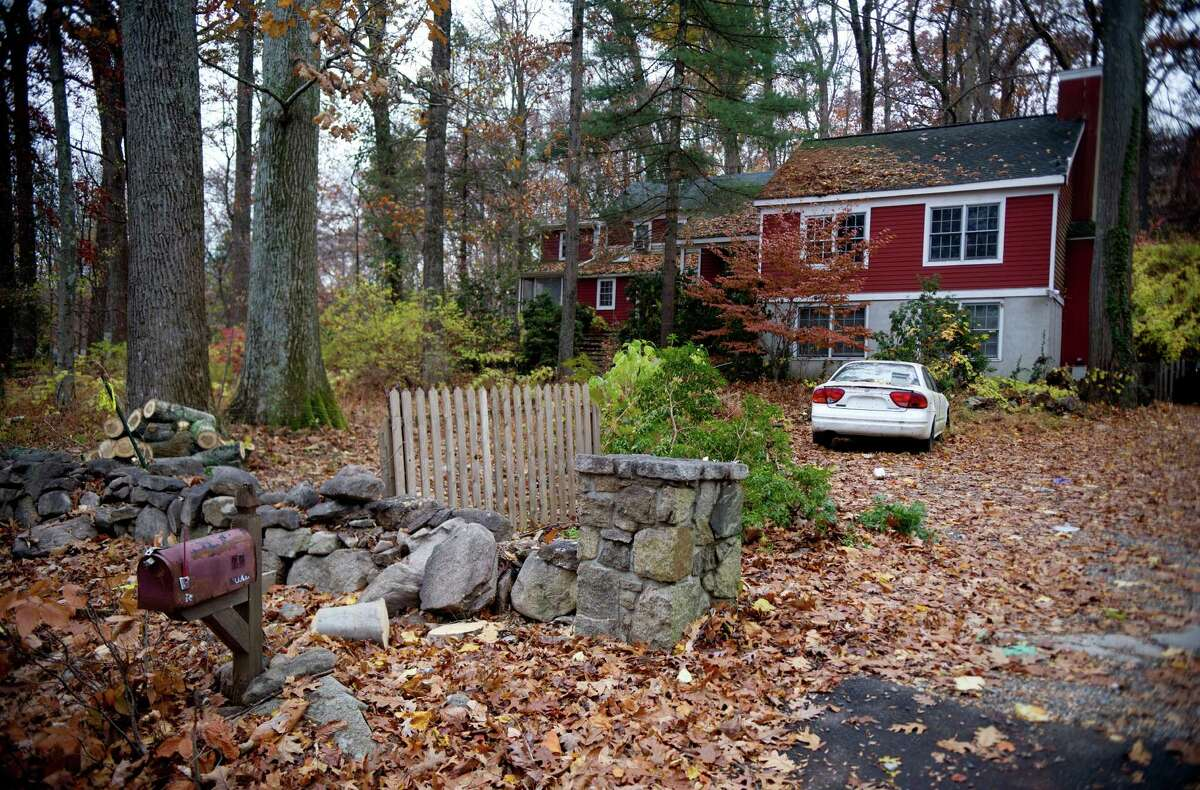 The house at 77 Range Road in Wilton, Conn., on Tuesday, November 12, 2013, where a pit bull attacked his owner, Anne Murray, 65, on Monday.