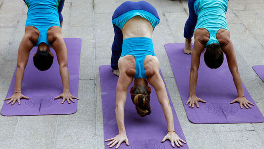 On downward-facing dog: 