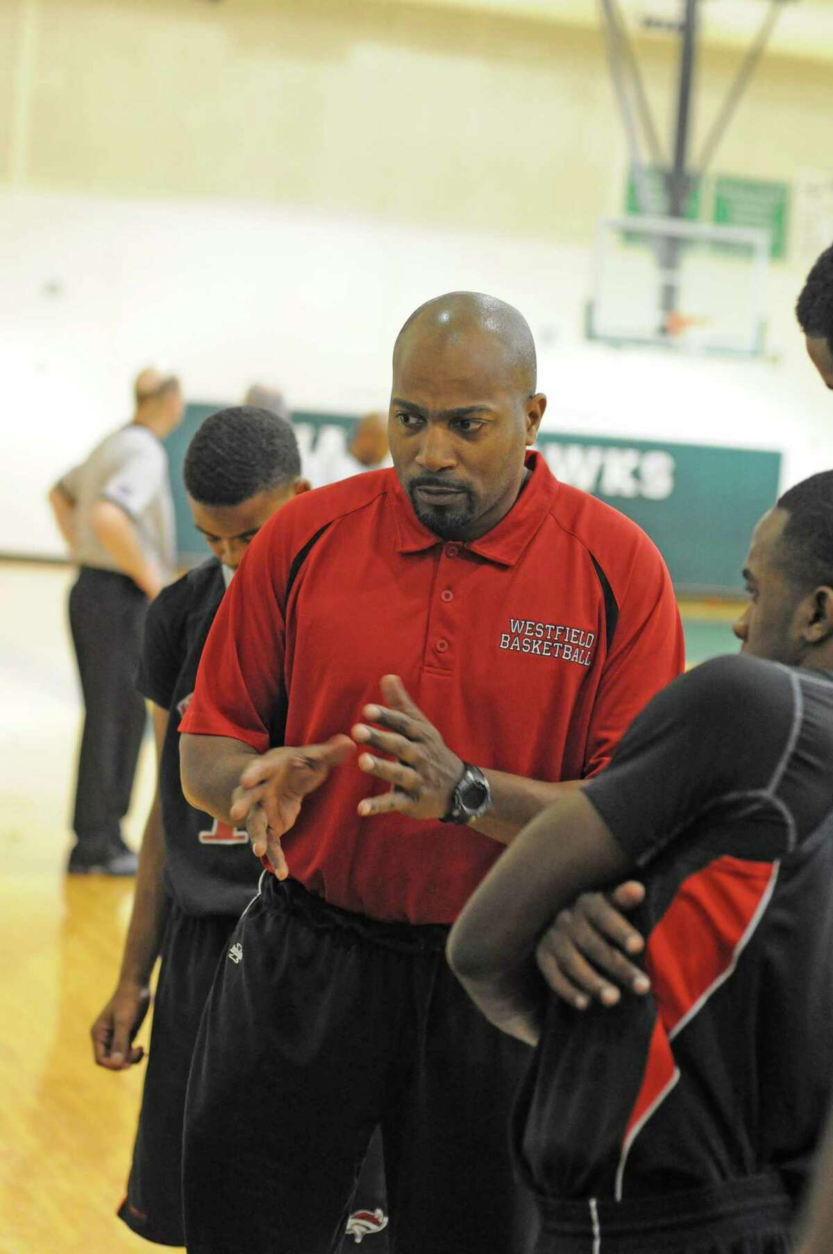 Westfield boys basketball coach Van Price. Westfield defeated Sharpstown 47-35 during the Alvin Lion's Club Classic on 12-28-10 at Harby Middle School in Alvin.