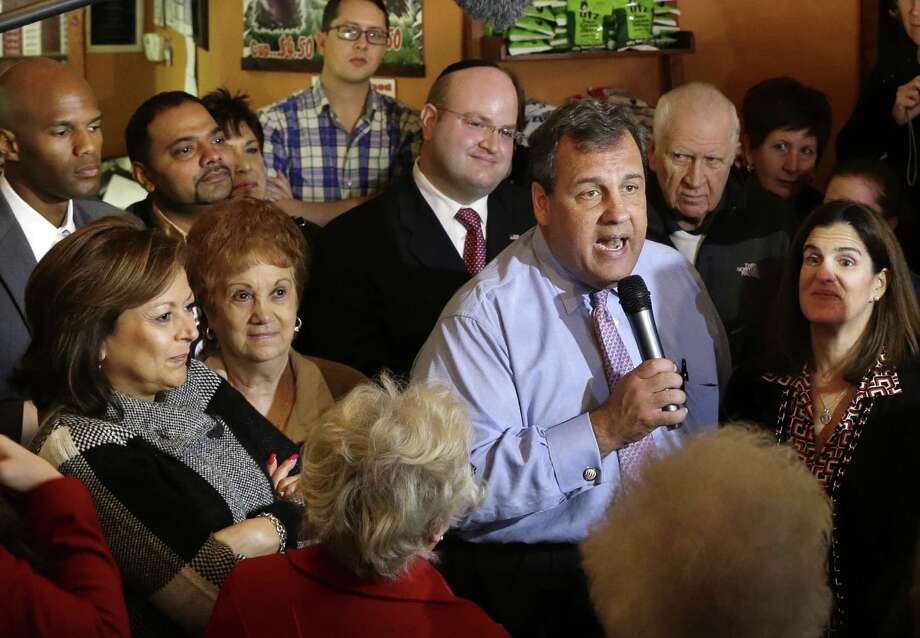 New Mexico Gov. Susana Martinez (far left) and Gov. Chris Christie greets supporters in Hillside, N.J. Could Christie-Martinez be the best GOP ticket for 2016? Photo: Associated Press