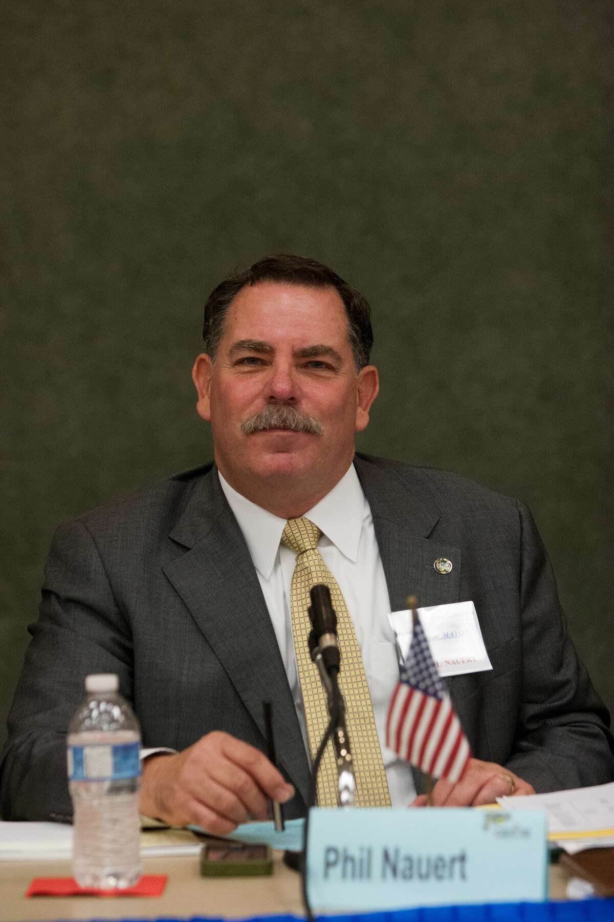 Phil Nauert, mayor, candidate for reelection, at the Bellaire Candidate Forum. Photo By R. Clayton McKee