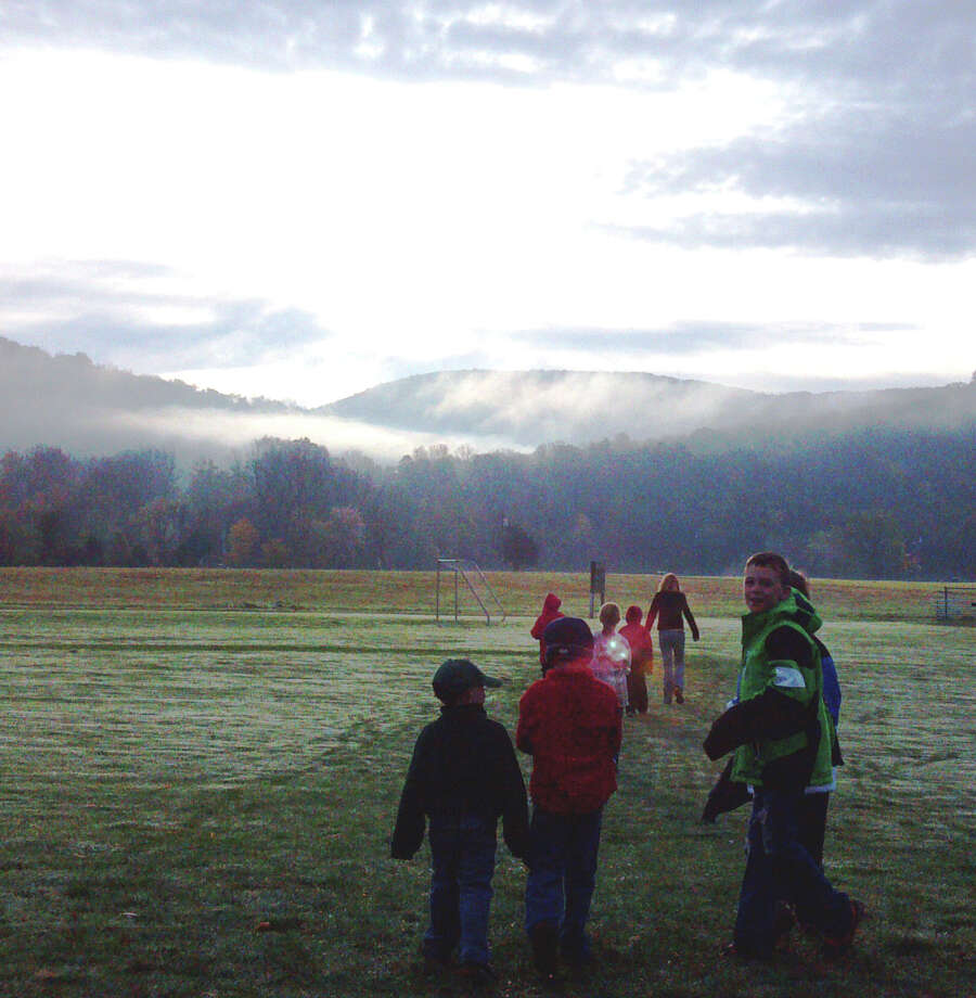 Kent Center School students participate in early morning in the school's marathon program.  Courtesy of Kent Center School Photo: Contributed Photo / The News-Times Contributed