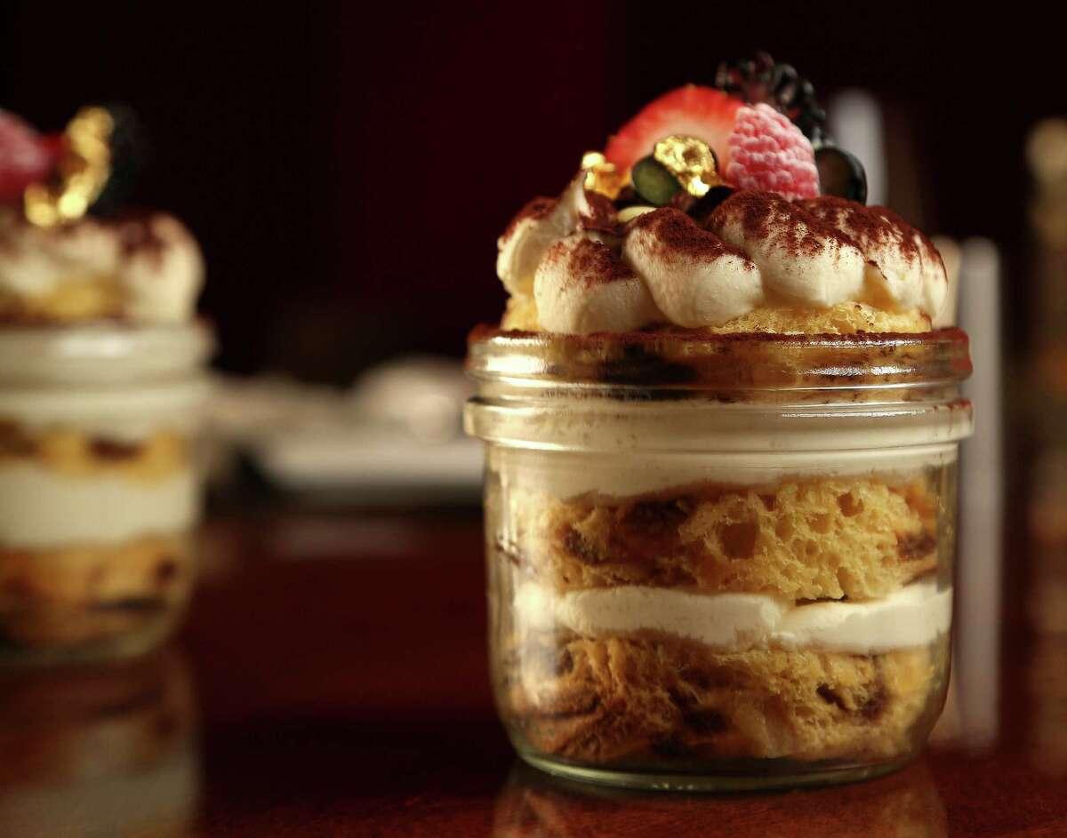 Chef Maurizio Ferrarese's Pannetone Tiramisu dessert.