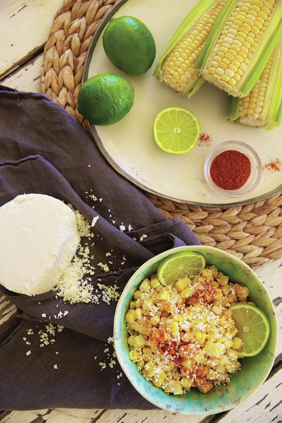 """Lime and Cotija Corn, from """"The Real Girl's Kitchen"""" by Haylie Duff."""