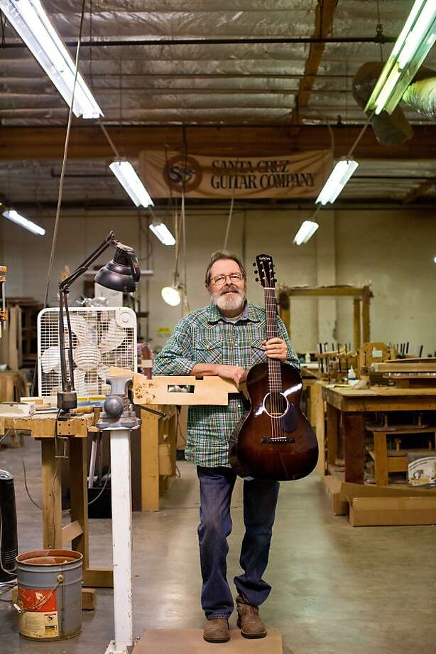 Richard Hoover has been crafting handmade guitars of sustainably harvested rare wood at his Santa Cruz Guitar Co. since 1976. Photo: Jason Henry, Special To The Chronicle
