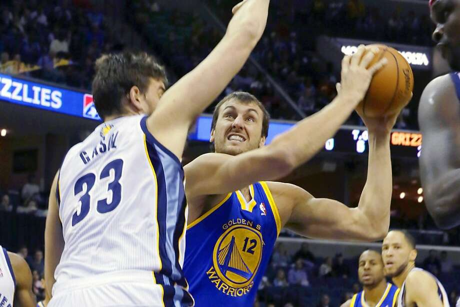Andrew Bogut won't score 20 a game on this team, but the Warriors could use more than 3.3. Photo: Danny Johnston, Associated Press