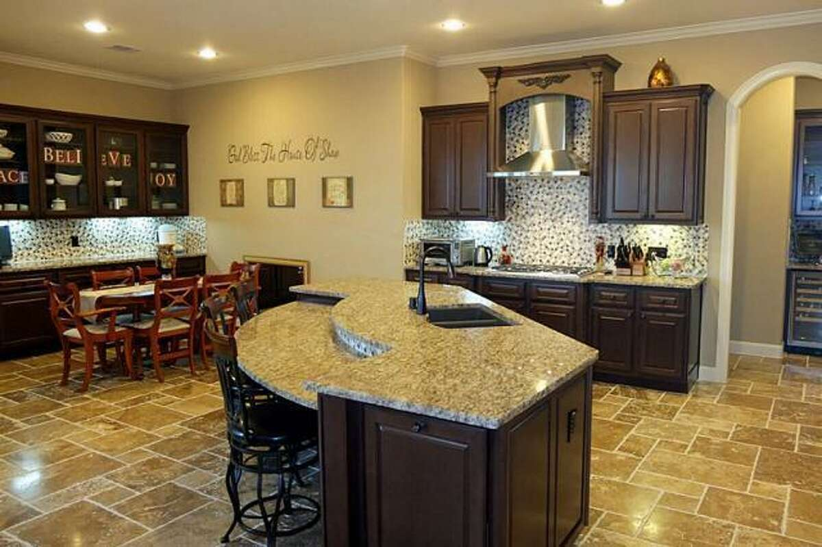 A spacious kitchen includes all the necessary appliances.