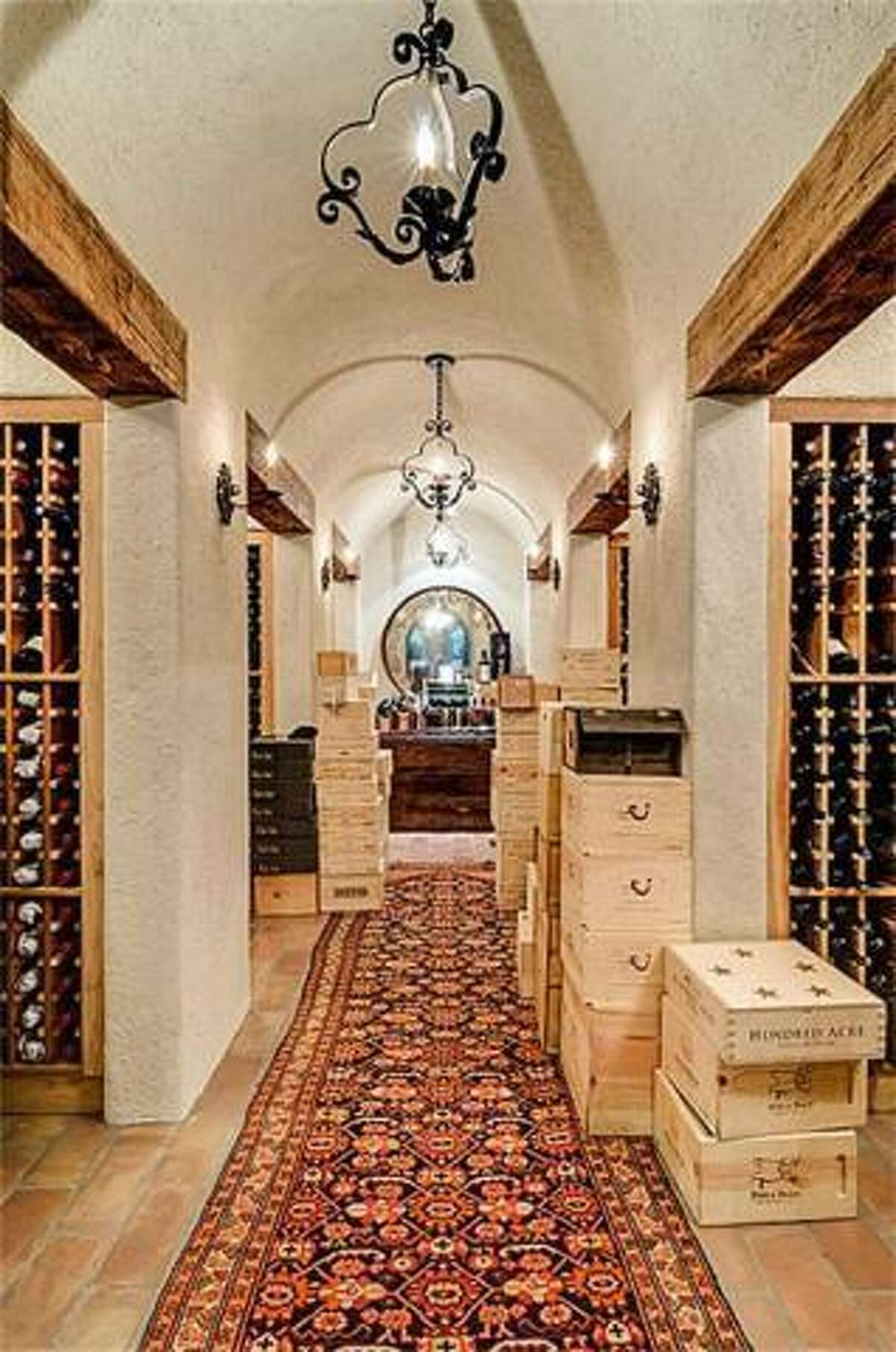 A full wine cellar is included with the property.