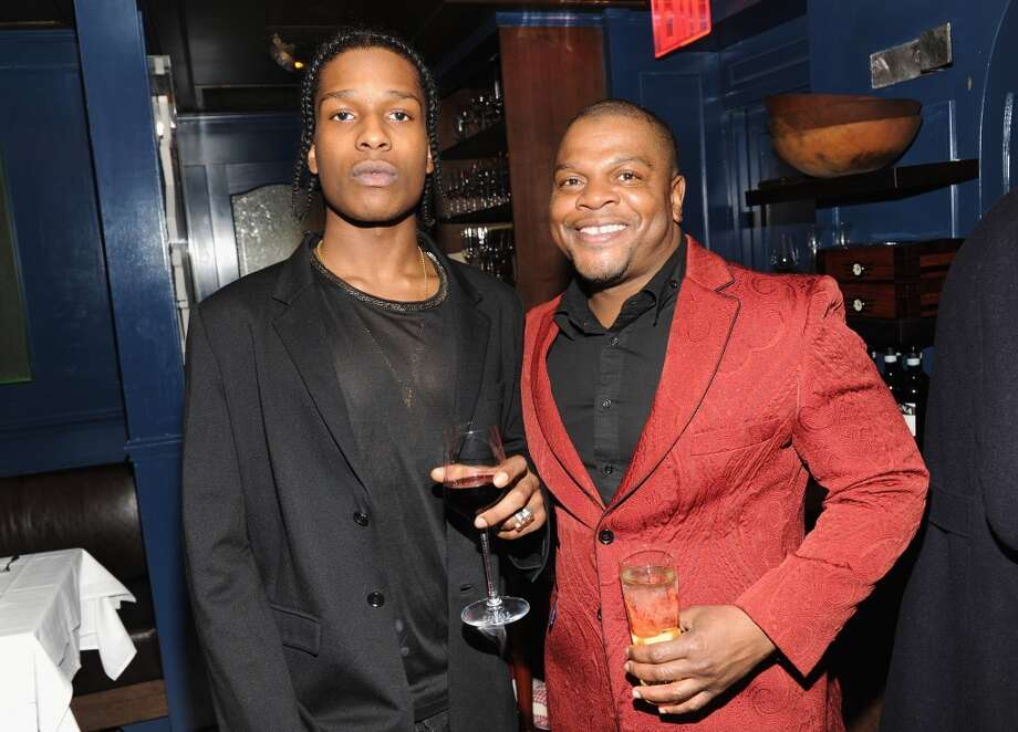 Rapper ASAP Rocky (L) and artist Kehinde Wiley attend the GQ Men of the Year dinner on November 11, 2013 in New York City. Photo: Kevin Mazur, Getty Images For GQ