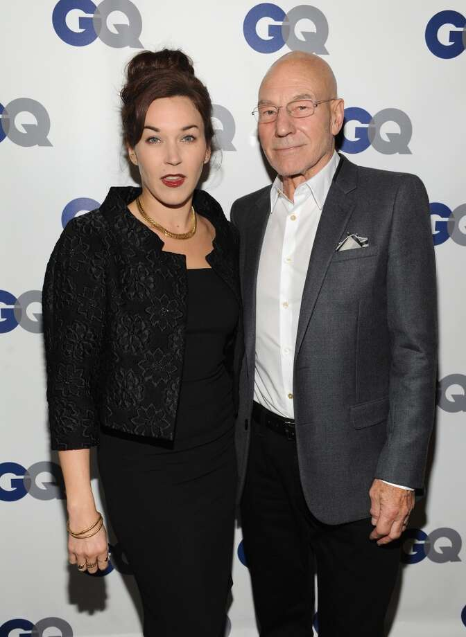 Sunny Ozell (L) and actor Patrick Stewart attend the GQ Men of the Year dinner on November 11, 2013 in New York City. Photo: Kevin Mazur, Getty Images For GQ