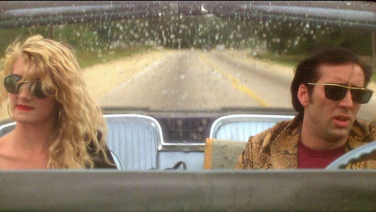 """Laura Dern and Nicolas Cage in """"Wild at Heart."""""""