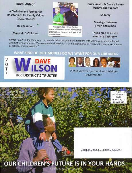 Dave Wilson's campaign flyers featured photos of African-Americans taken from the Internet. He won by 26 votes.